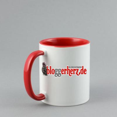 Die Bloggerherz Tasse aus dem Bloggerherz Shop - einzigartig nur für Dich!