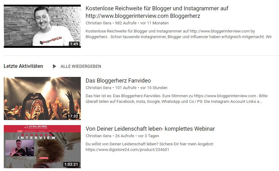 Bloggerherz Fanvideo